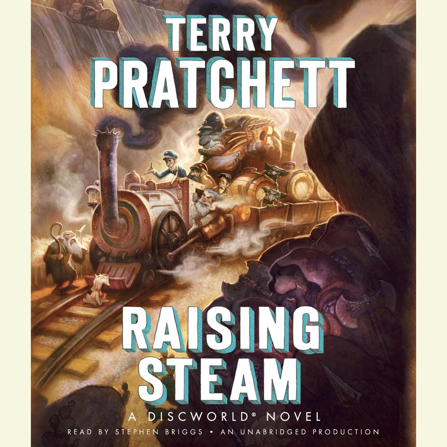 Printable Raising Steam Audiobook Cover Art