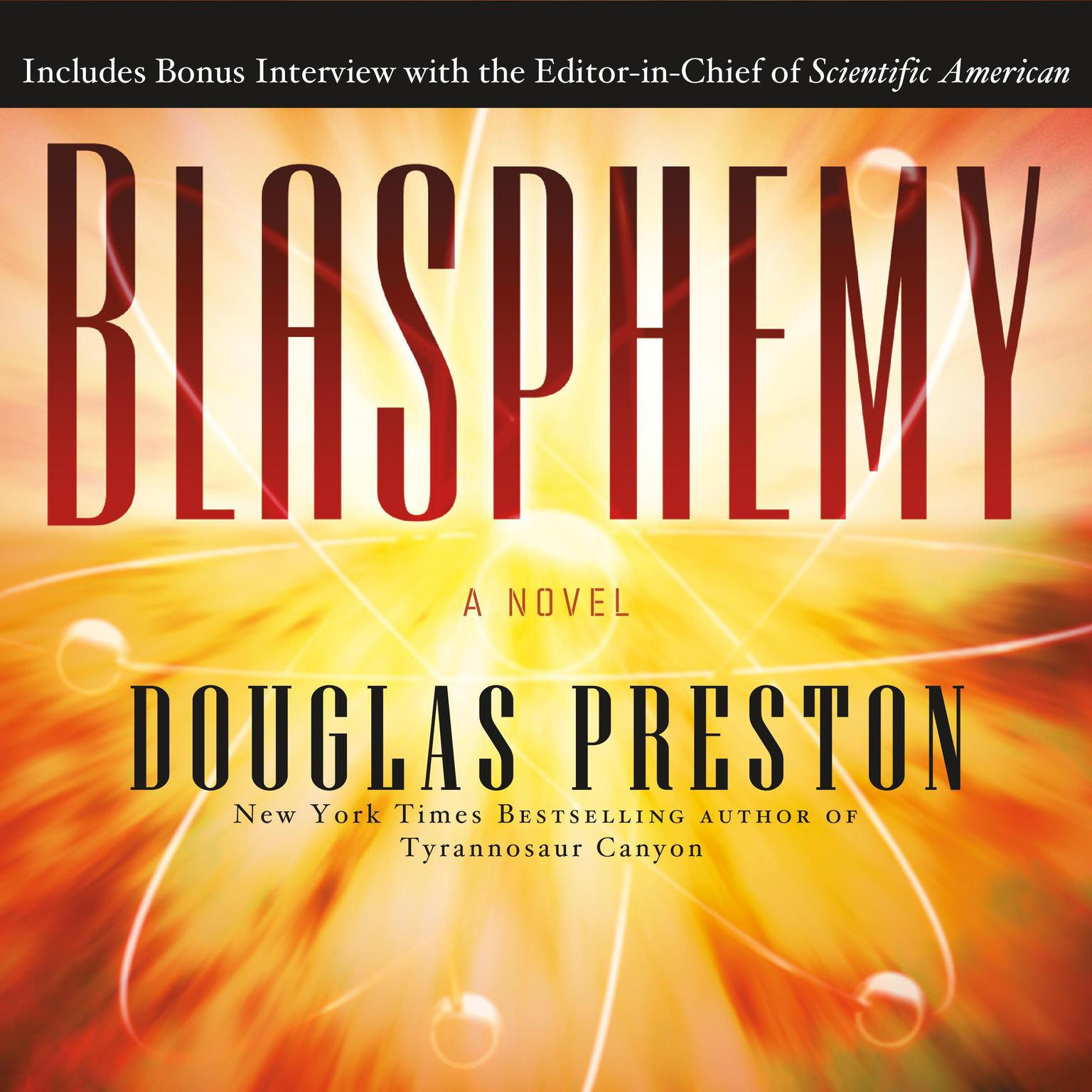 Printable Blasphemy: A Novel Audiobook Cover Art
