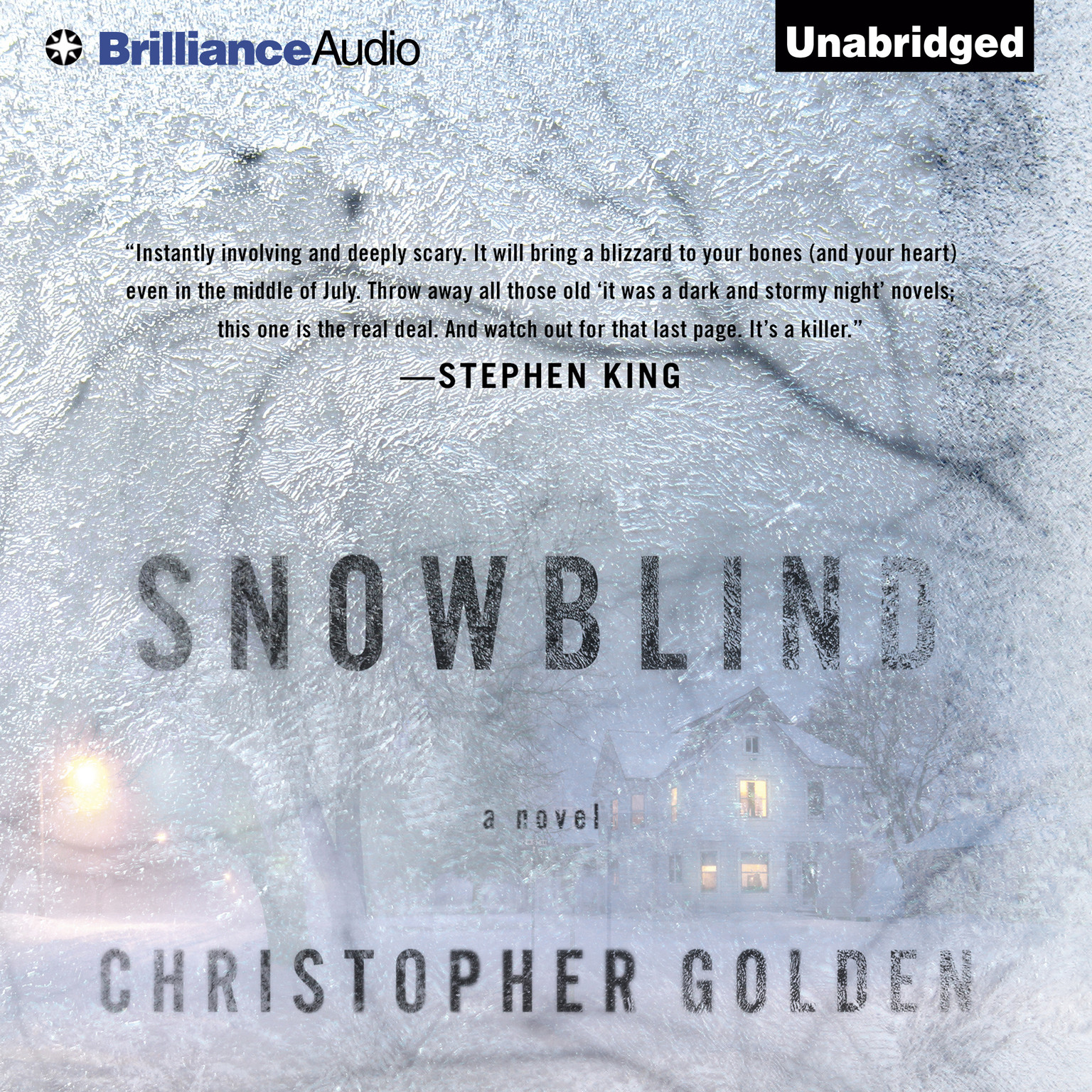 Printable Snowblind Audiobook Cover Art
