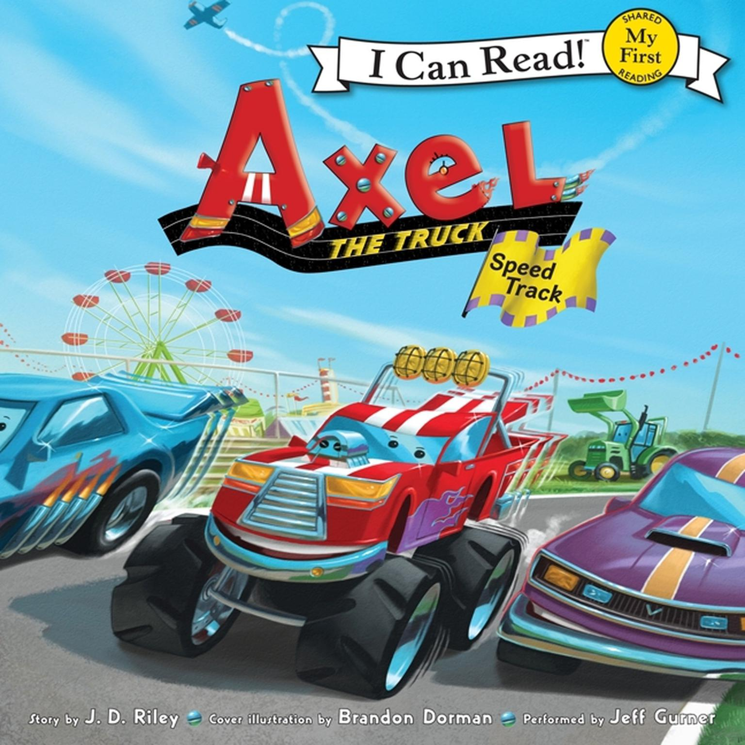 Printable Axel the Truck: Speed Track Audiobook Cover Art