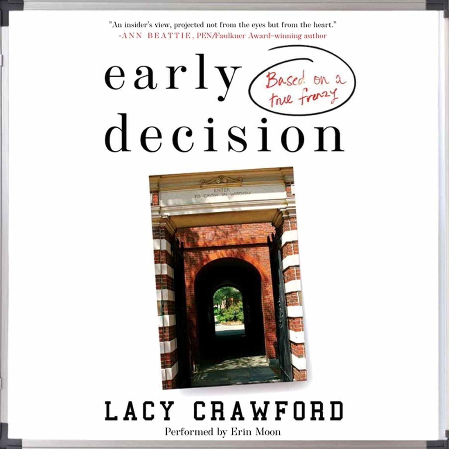 Printable Early Decision: Based on a True Frenzy Audiobook Cover Art
