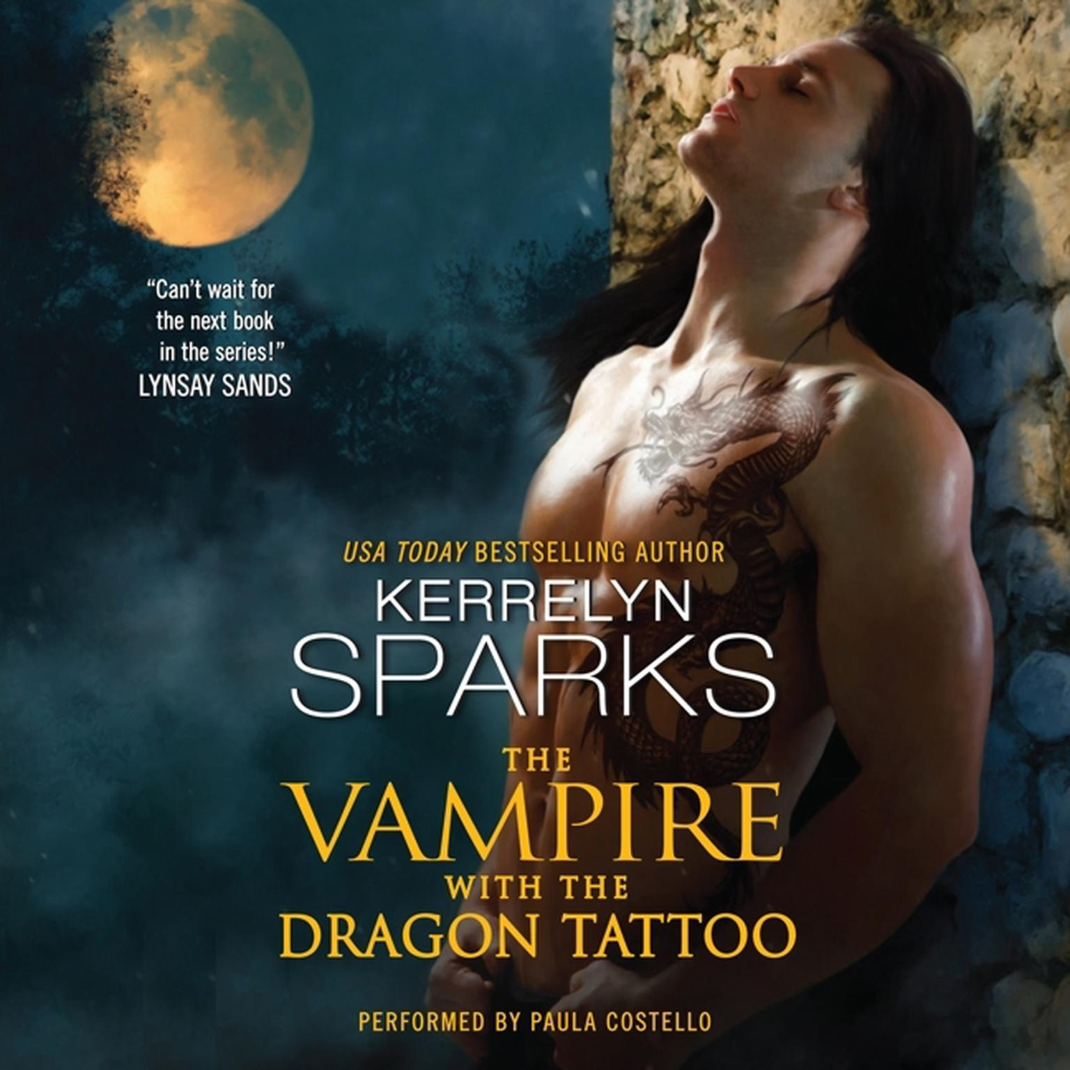 Printable The Vampire With the Dragon Tattoo Audiobook Cover Art
