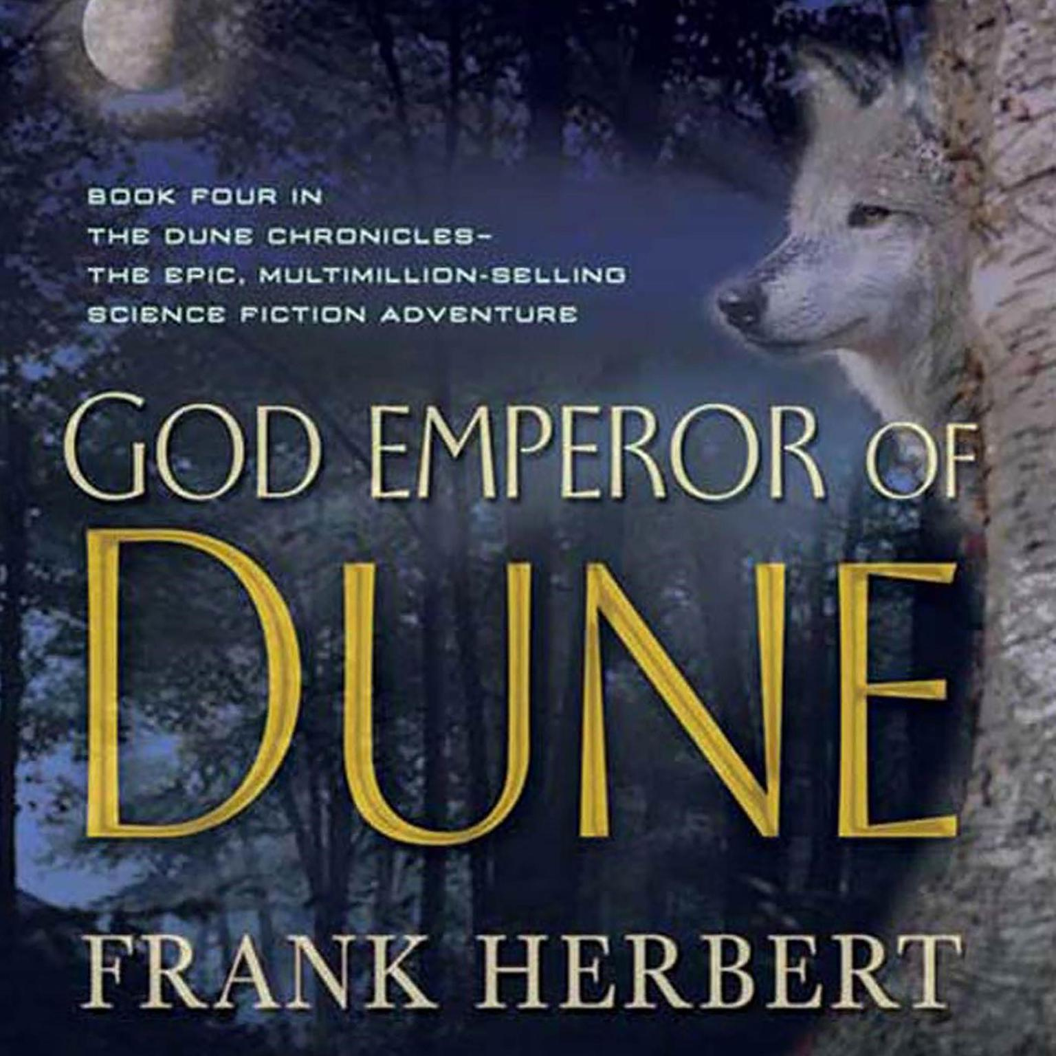 Printable God Emperor of Dune Audiobook Cover Art
