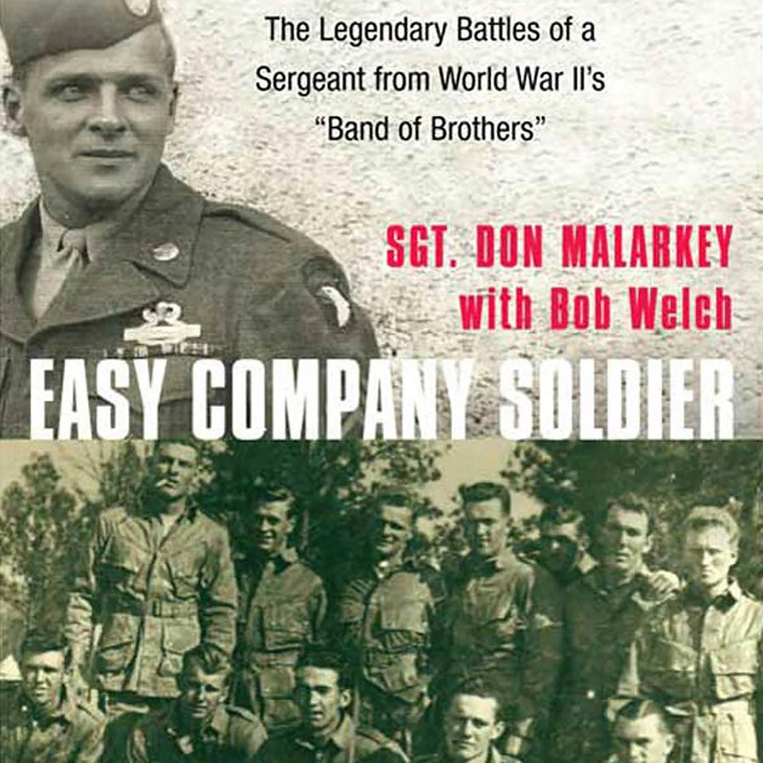Printable Easy Company Soldier: The Legendary Battles of a Sergeant from World War II's 'Band of Brothers' Audiobook Cover Art