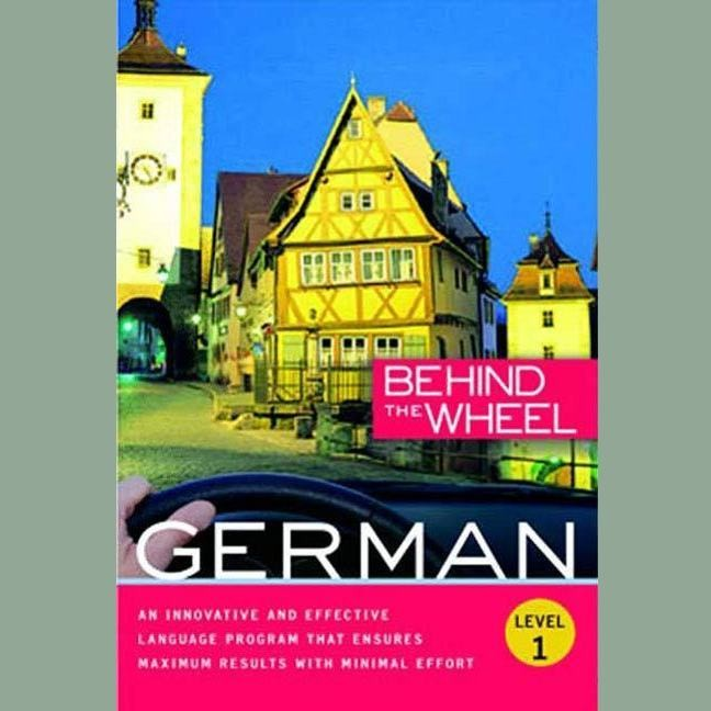 Printable Behind the Wheel - German 1 Audiobook Cover Art