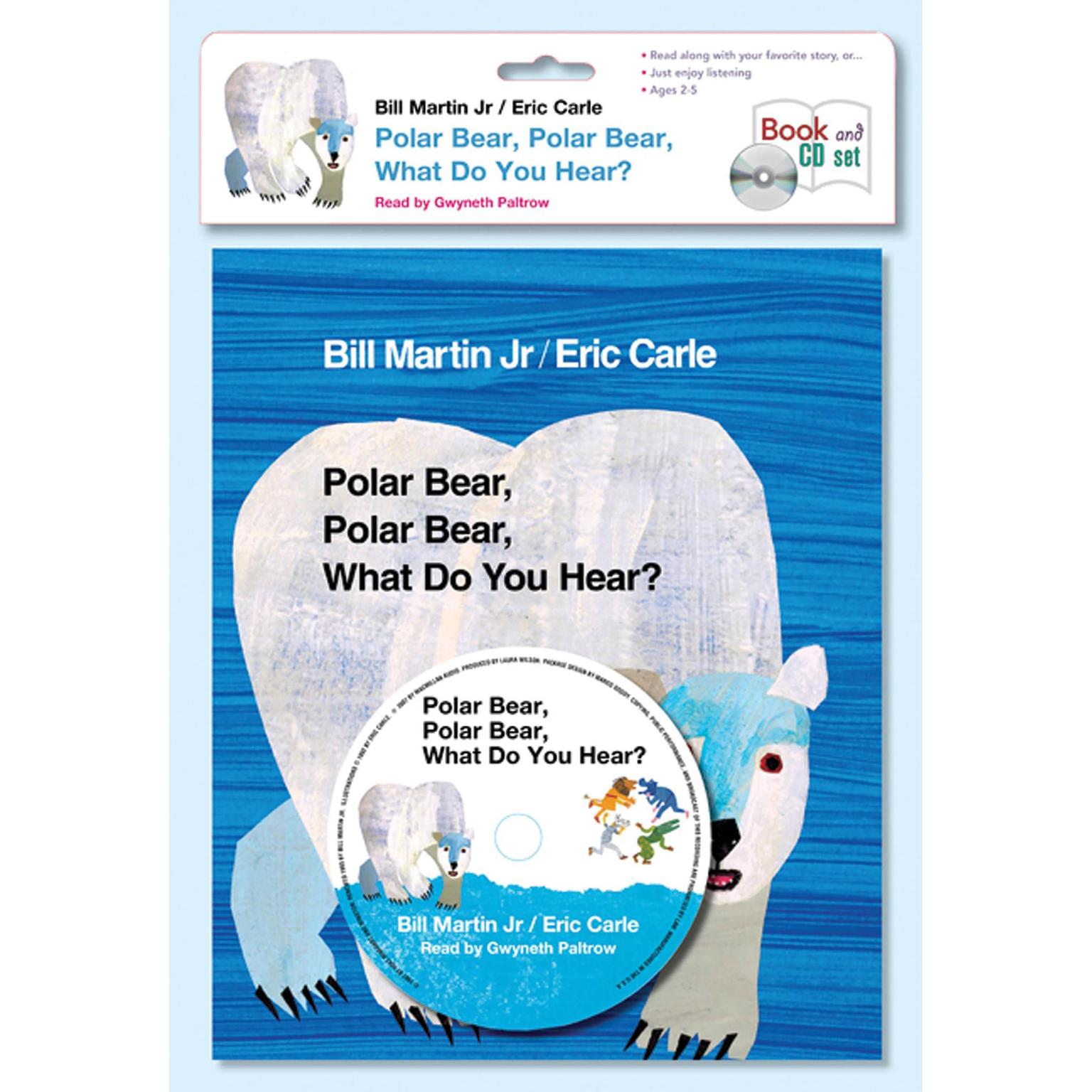 Printable Polar Bear, Polar Bear, What Do You Hear? Audiobook Cover Art