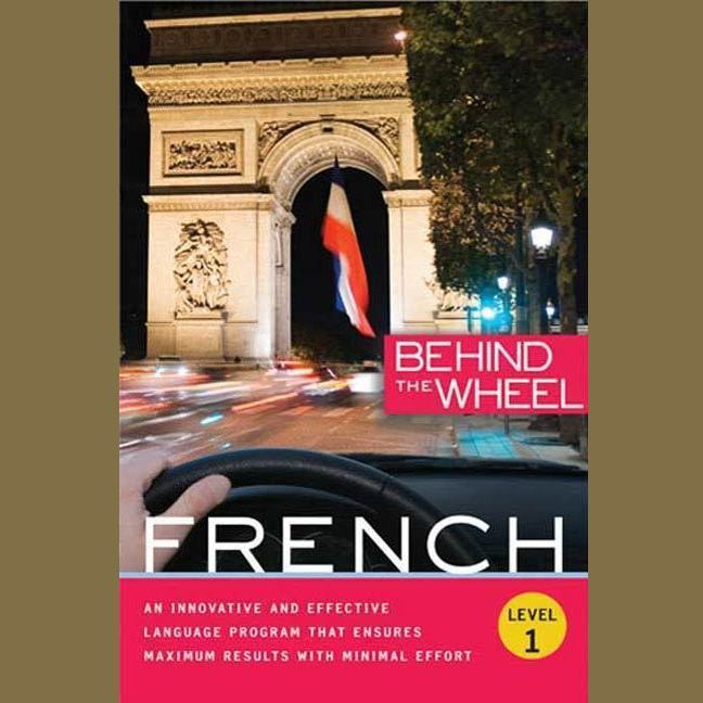 Printable Behind the Wheel - French 1 Audiobook Cover Art
