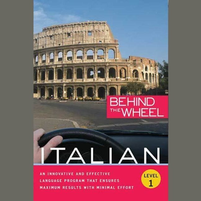 Printable Behind the Wheel—Italian 1 Audiobook Cover Art