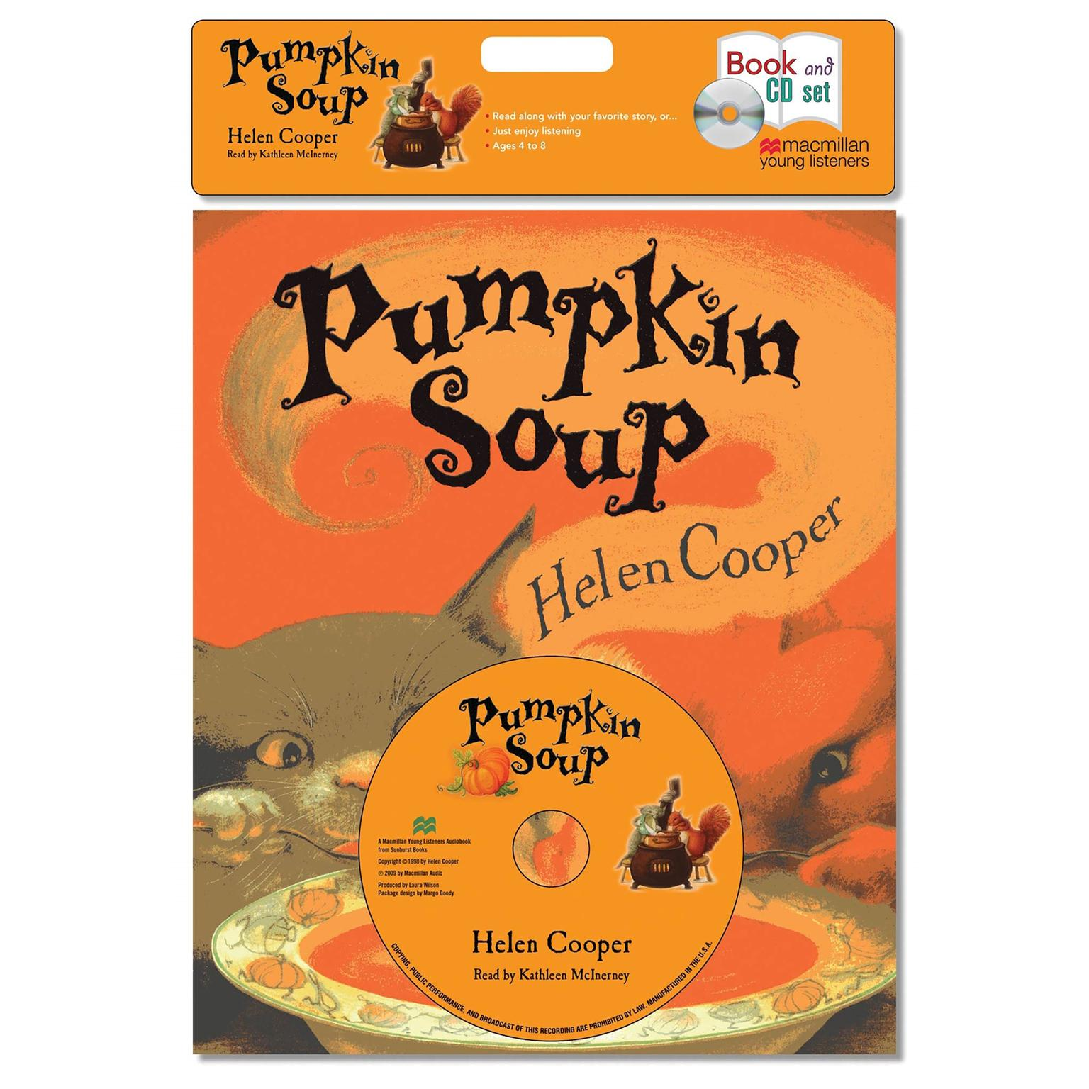 Printable Pumpkin Soup: A Picture Book Audiobook Cover Art