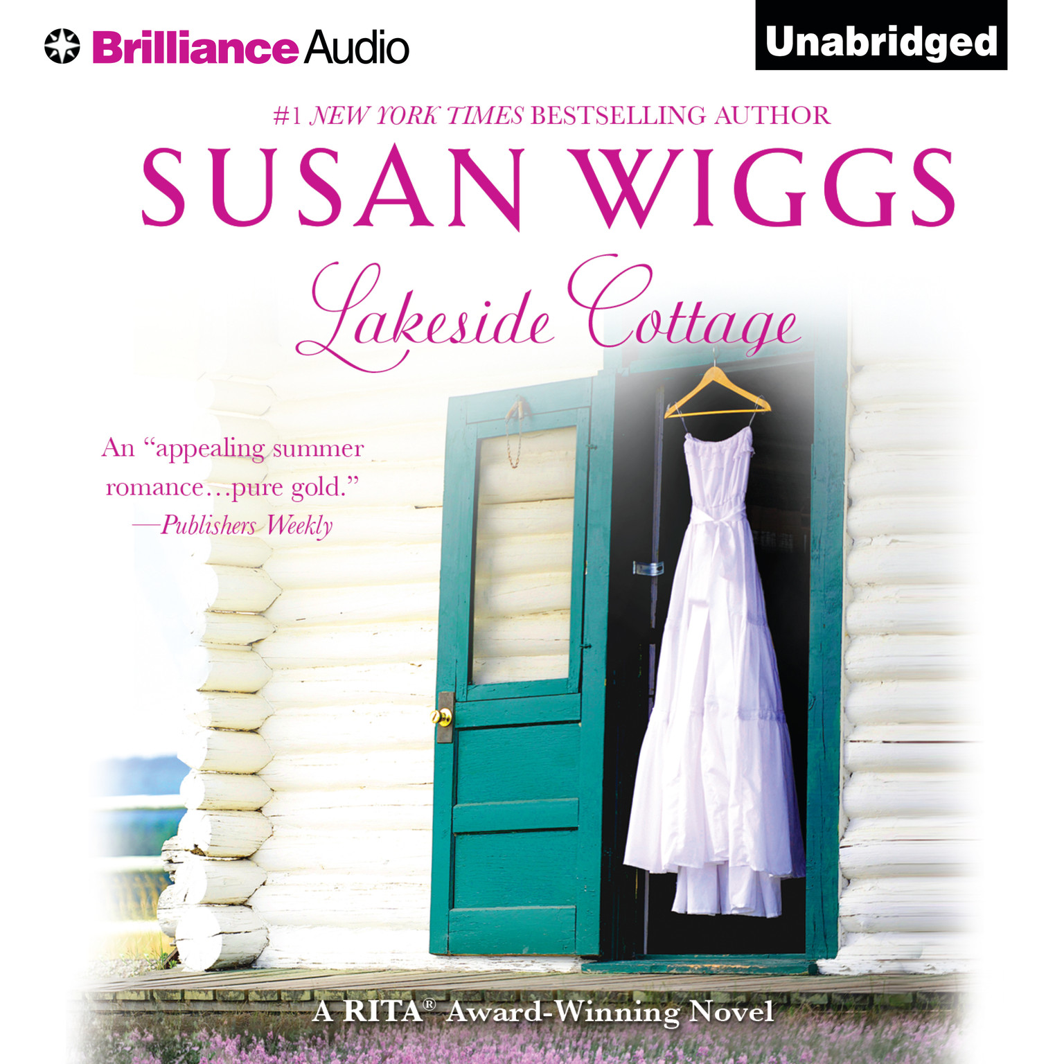 Printable Lakeside Cottage Audiobook Cover Art