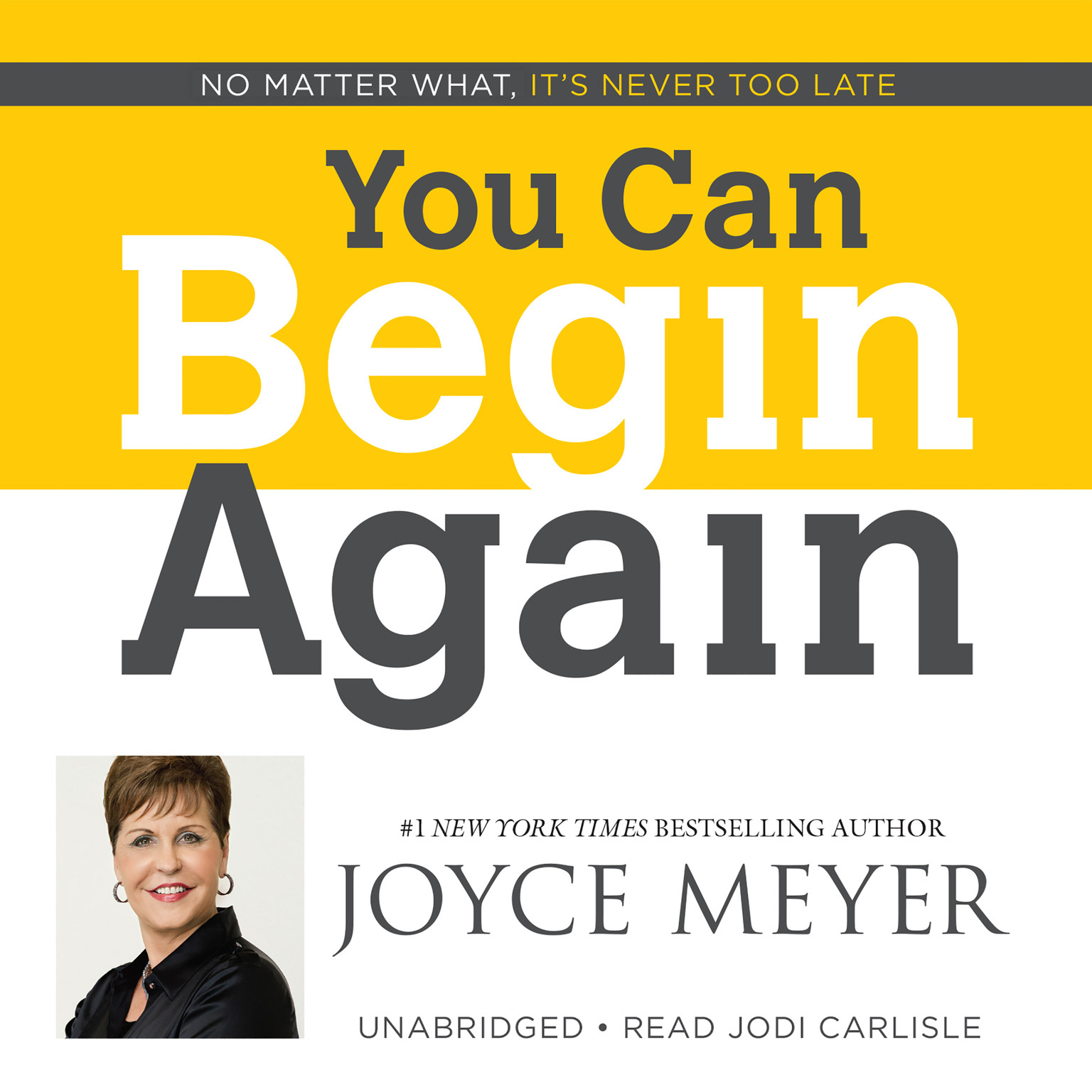 Printable You Can Begin Again: No Matter What, It's Never Too Late Audiobook Cover Art