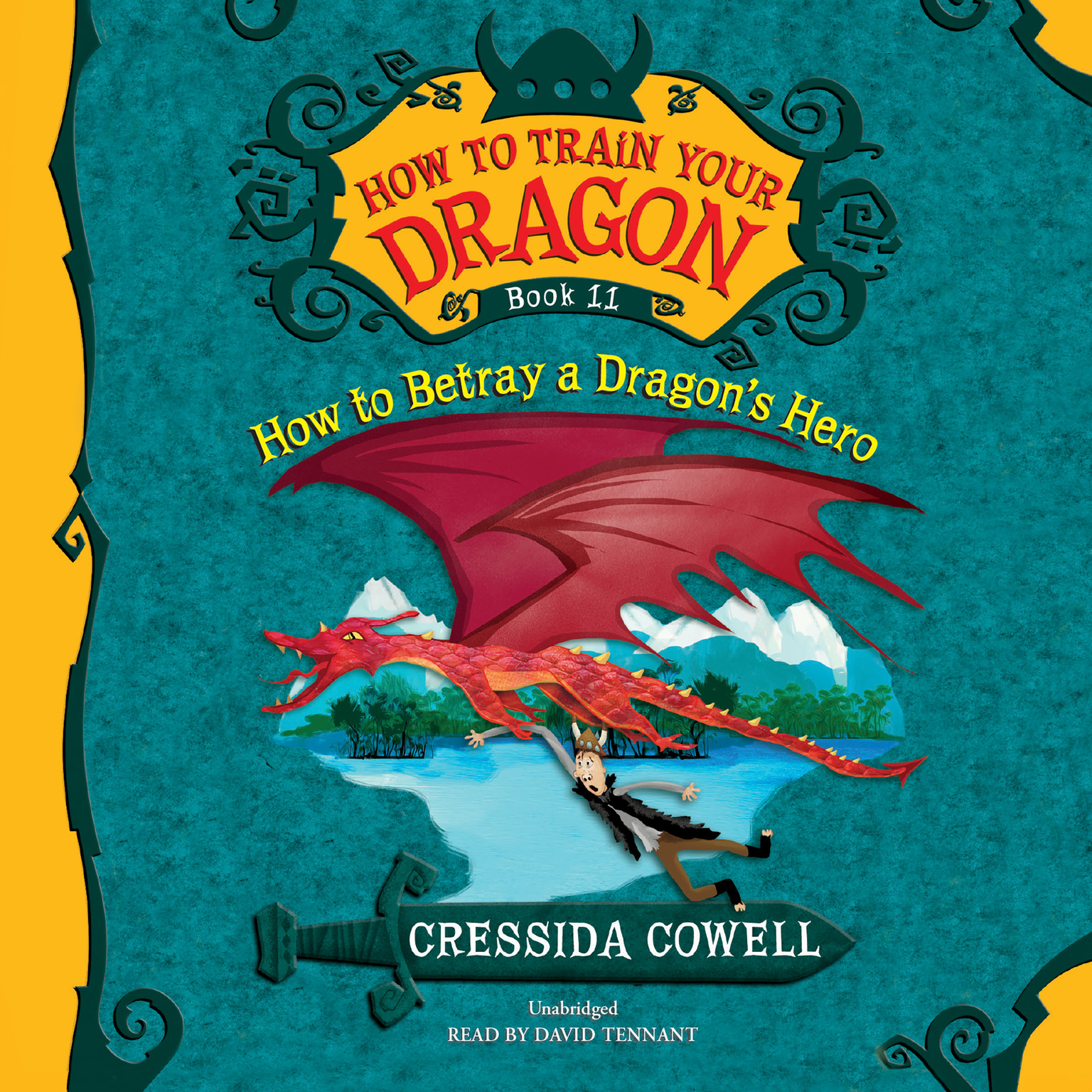 Printable How to Train Your Dragon: How to Betray a Dragon's Hero Audiobook Cover Art