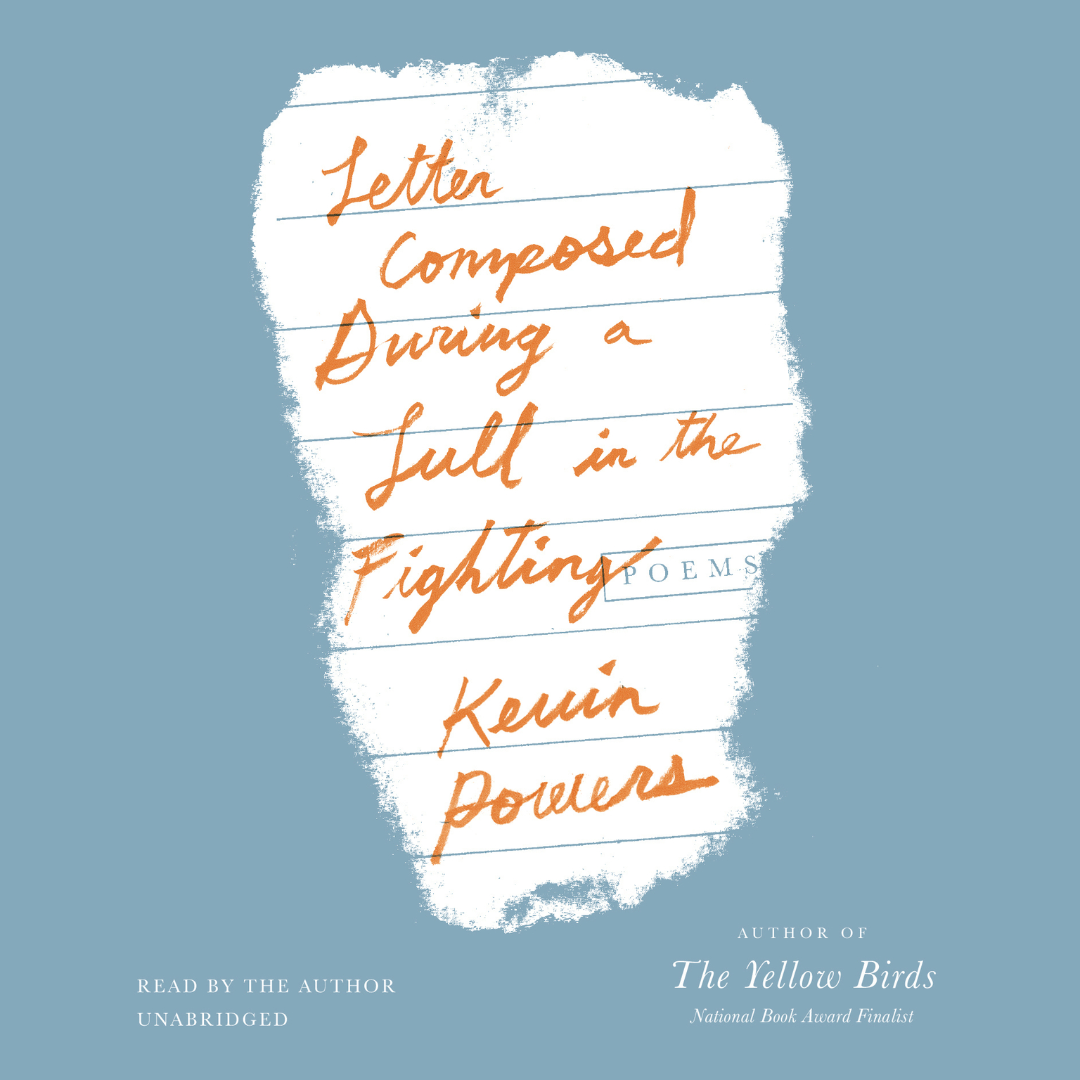 Printable Letter Composed during a Lull in the Fighting: Poems Audiobook Cover Art