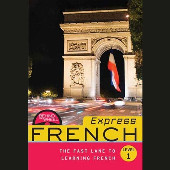 Printable Behind the Wheel Express French 1 Audiobook Cover Art