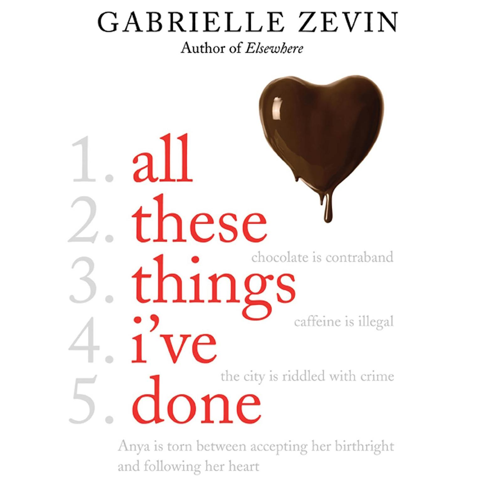 Printable All These Things I've Done: A Novel Audiobook Cover Art