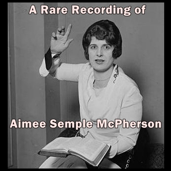 Printable A Rare Recording of Aimee Semple McPherson Audiobook Cover Art