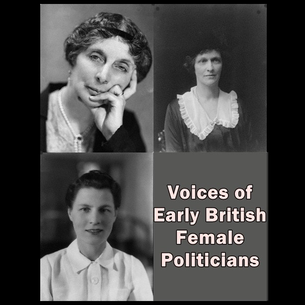 Printable Voices of Early British Female Politicians Audiobook Cover Art