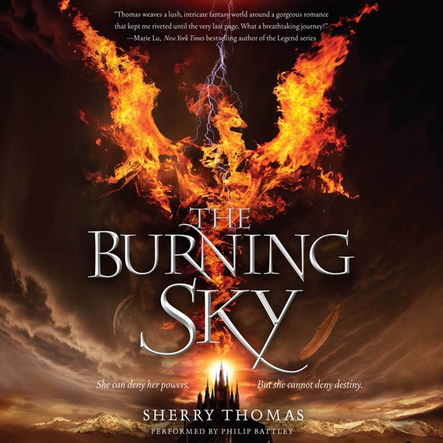 Printable The Burning Sky Audiobook Cover Art