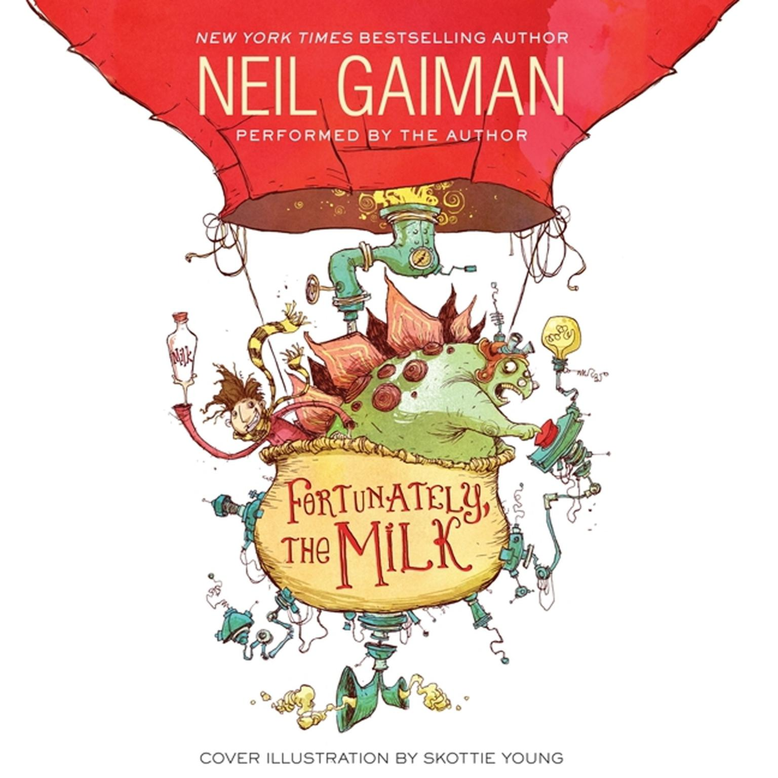 Printable Fortunately, the Milk Audiobook Cover Art