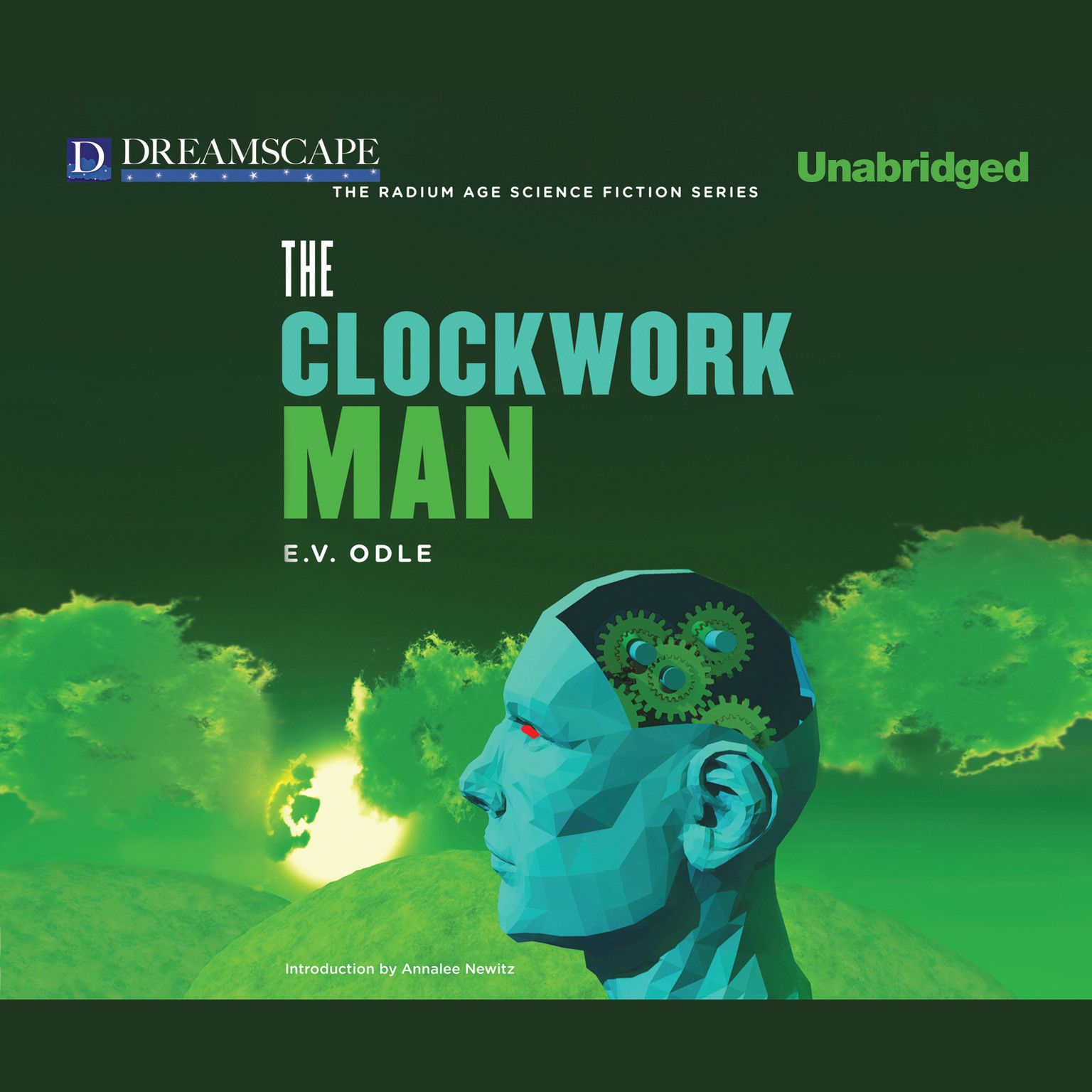 Printable The Clockwork Man Audiobook Cover Art