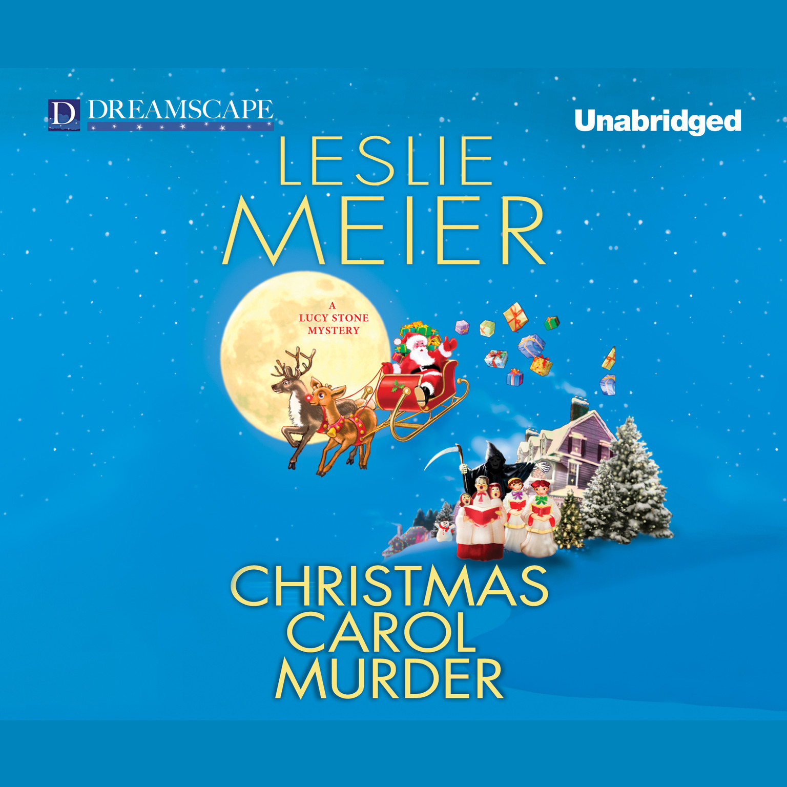 Printable Christmas Carol Murder Audiobook Cover Art
