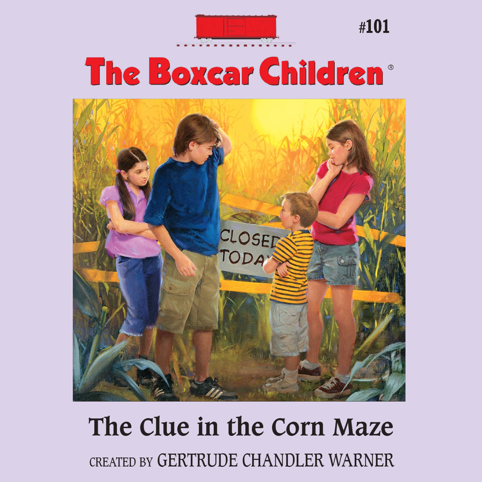 Boxcar Children Book Cover ~ The clue in corn maze audiobook listen instantly