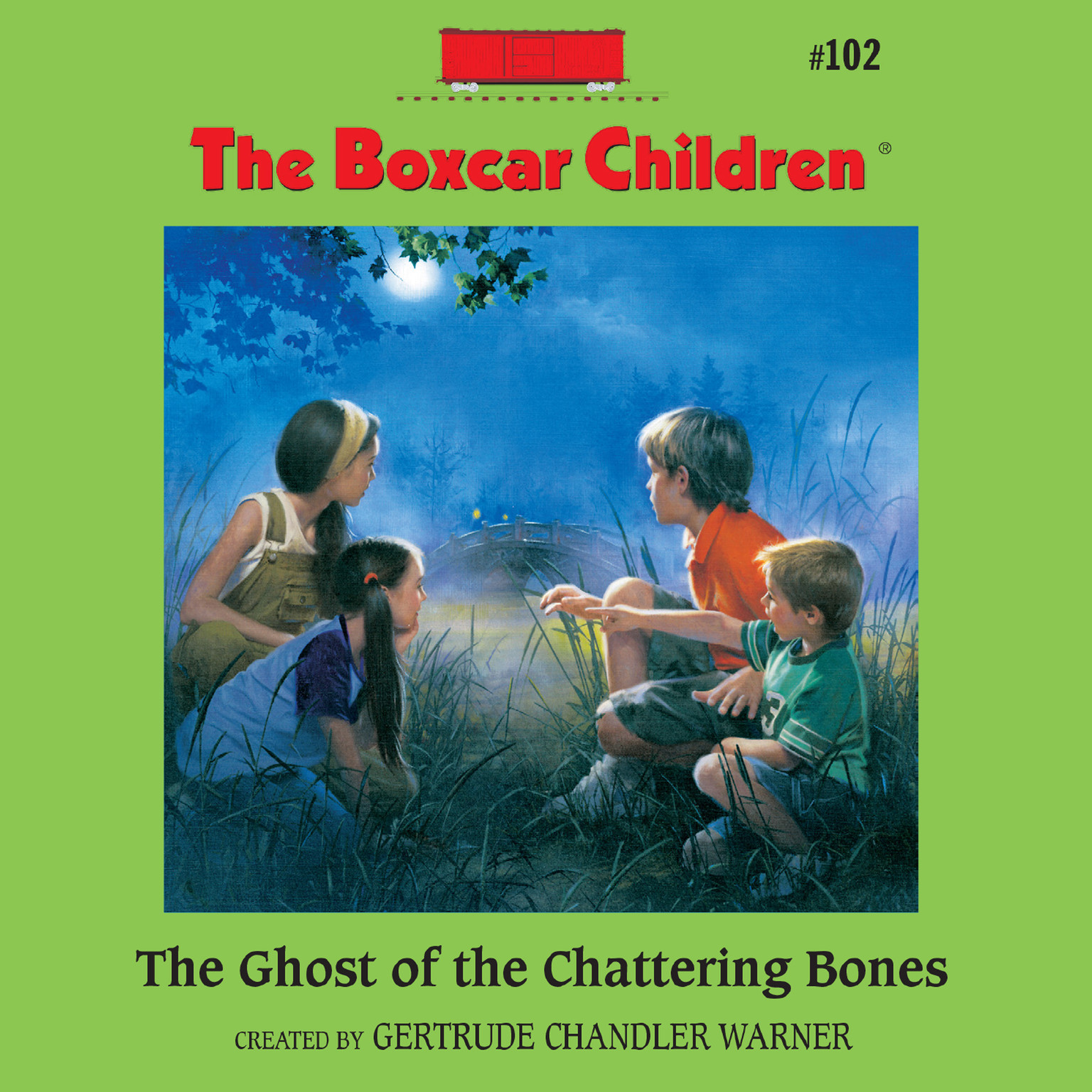 Printable The Ghost of the Chattering Bones Audiobook Cover Art