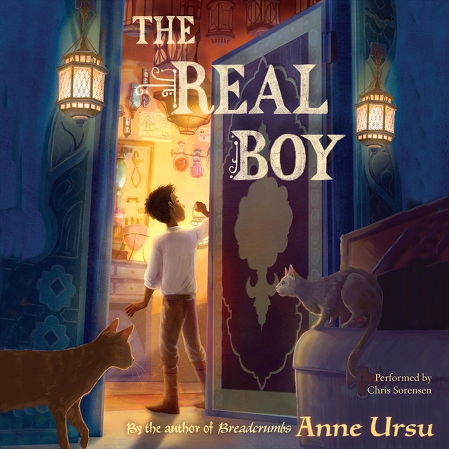 Printable The Real Boy Audiobook Cover Art