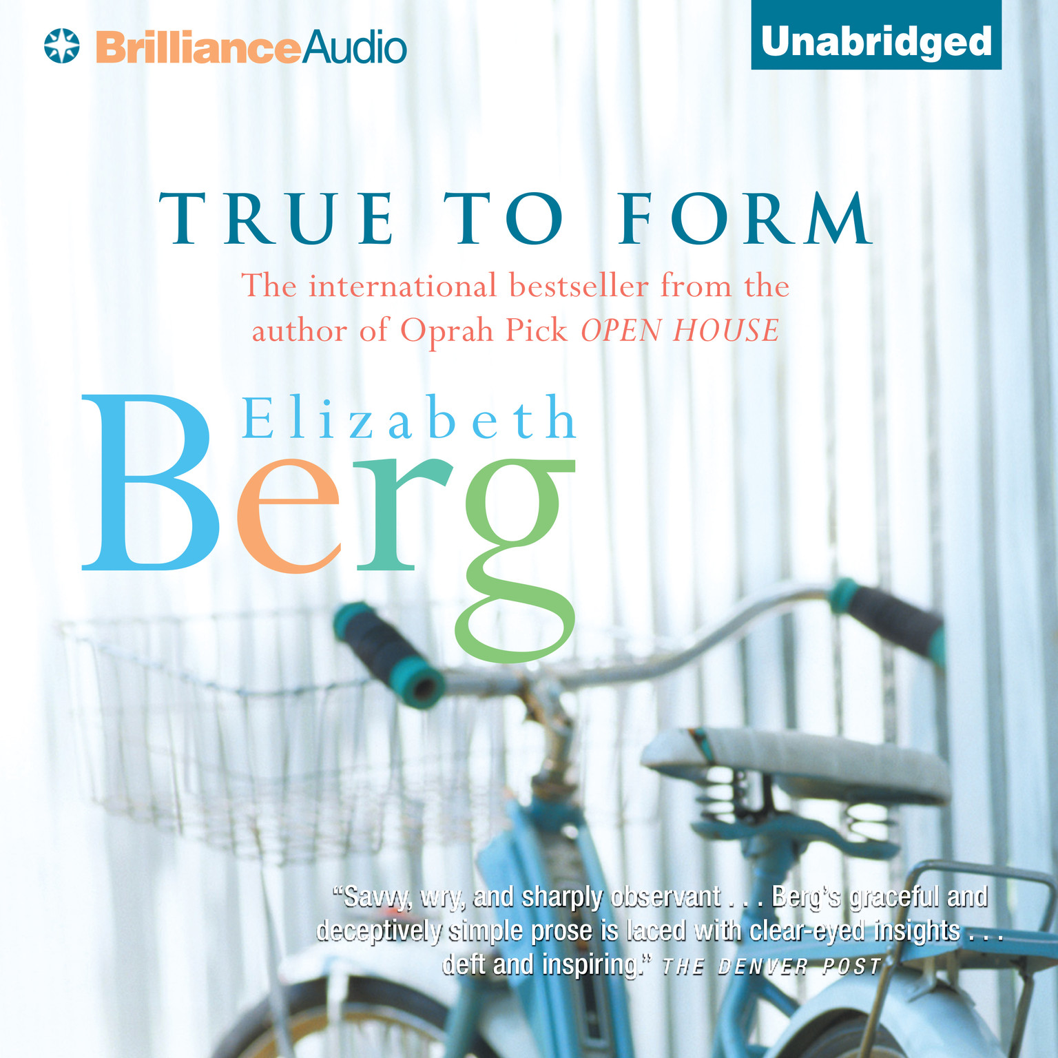 Printable True to Form Audiobook Cover Art