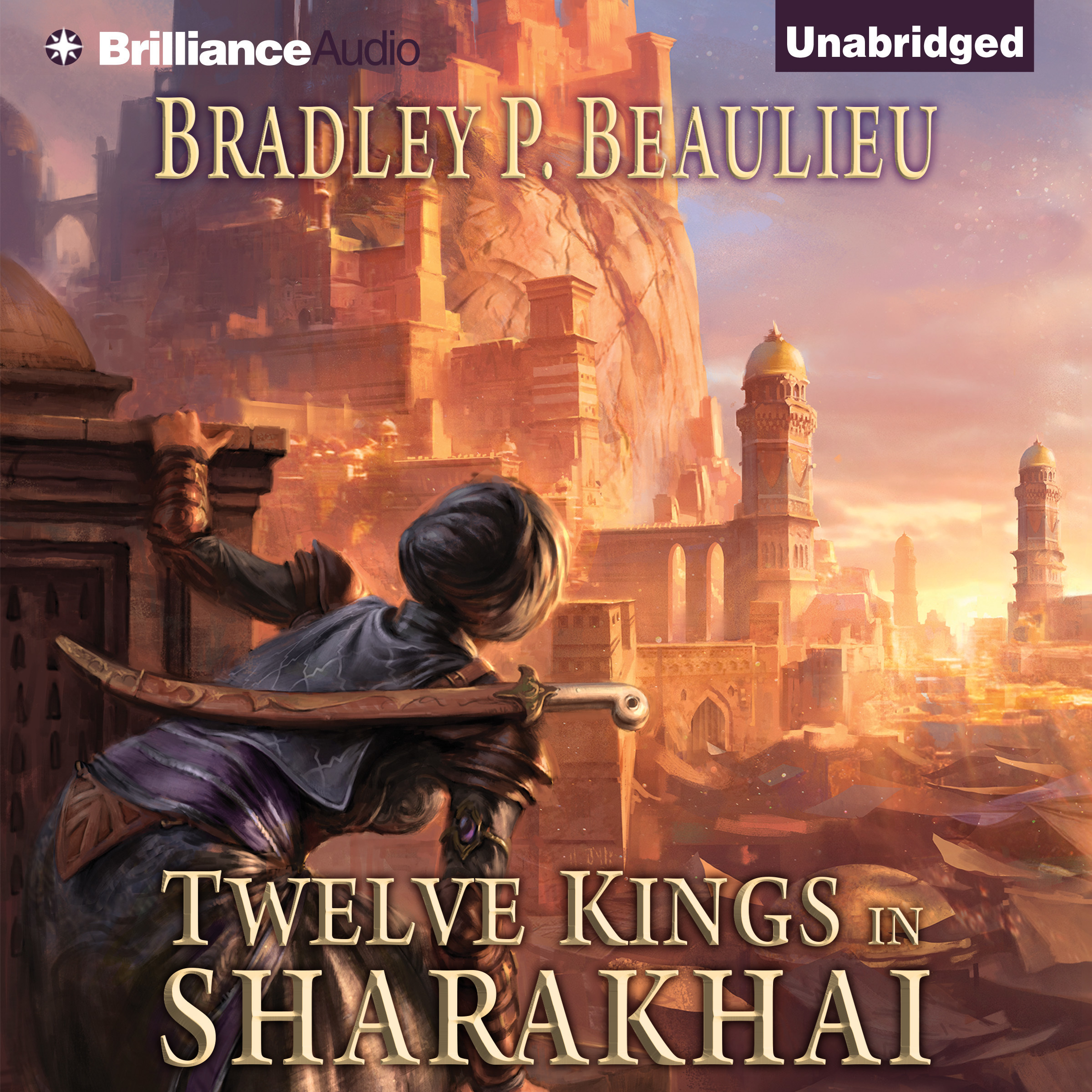 Printable Twelve Kings in Sharakhai Audiobook Cover Art