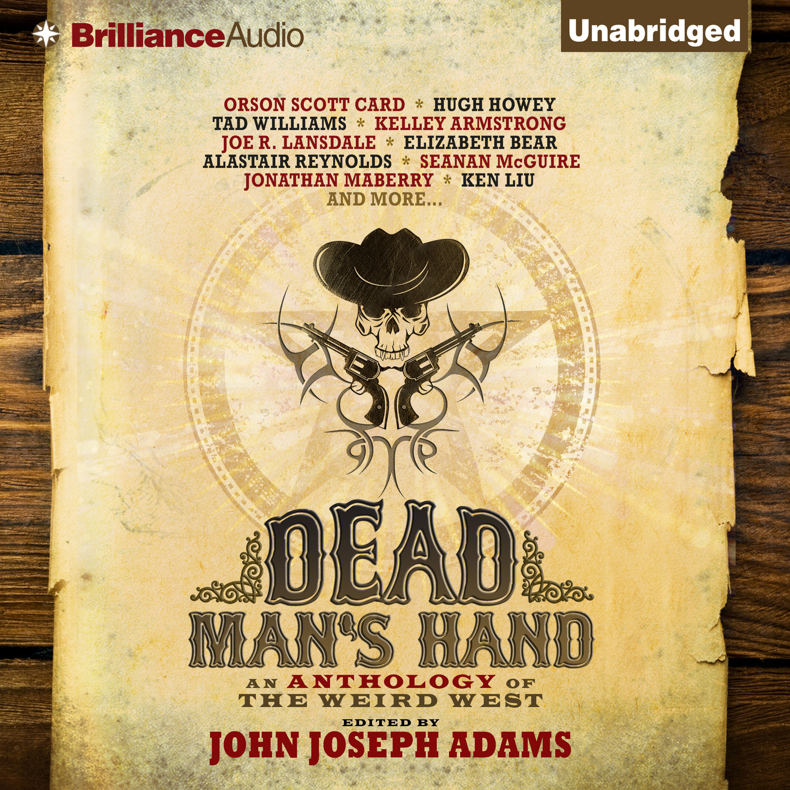 Printable Dead Man's Hand: An Anthology of the Weird West Audiobook Cover Art