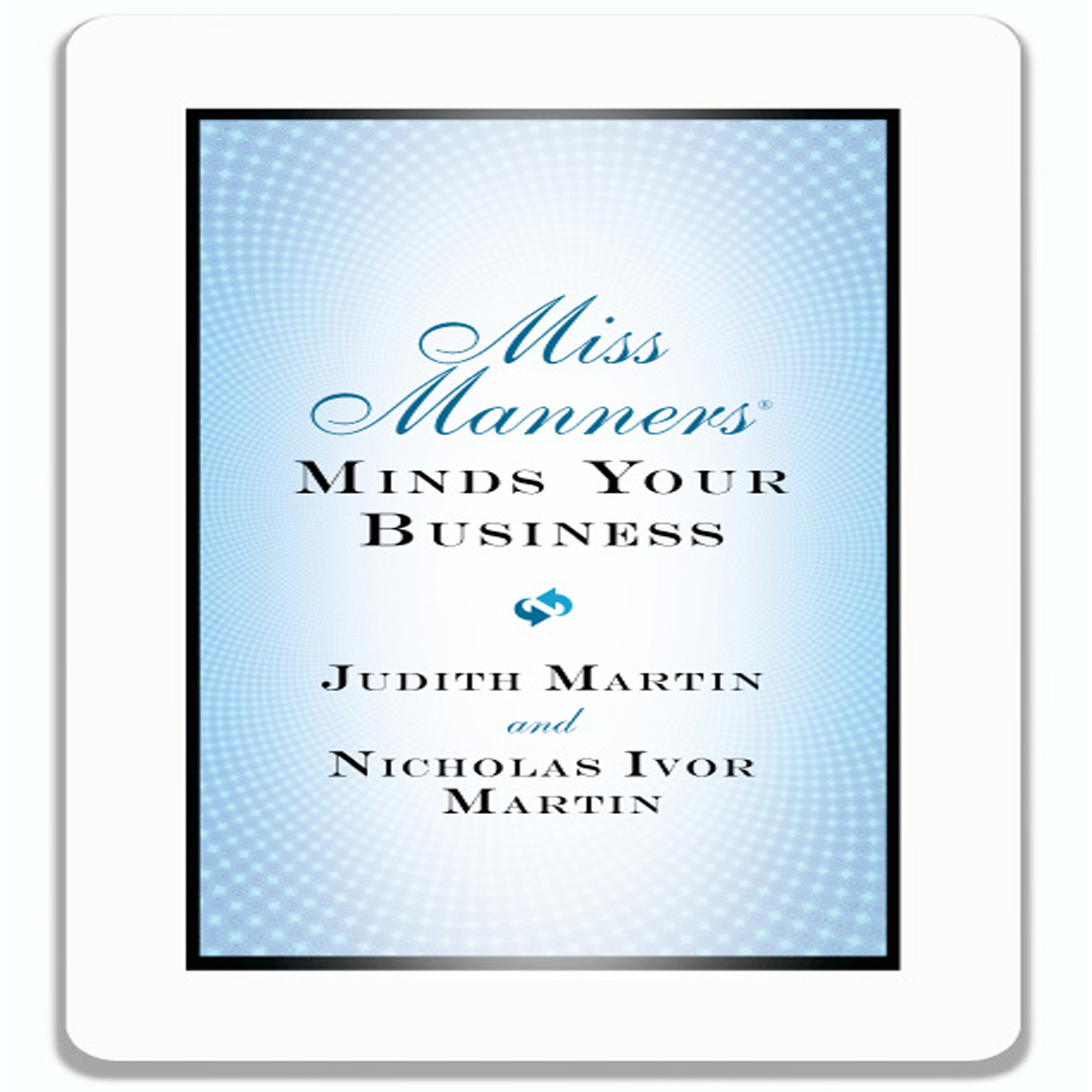 Printable Miss Manners Minds Your Business Audiobook Cover Art