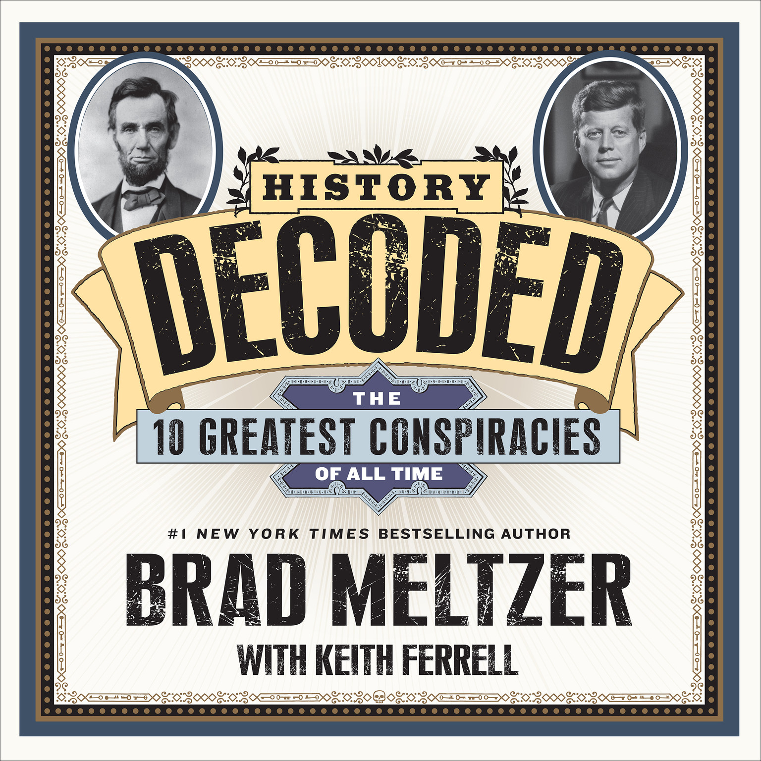 Printable History Decoded: The 10 Greatest Conspiracies of All Time Audiobook Cover Art