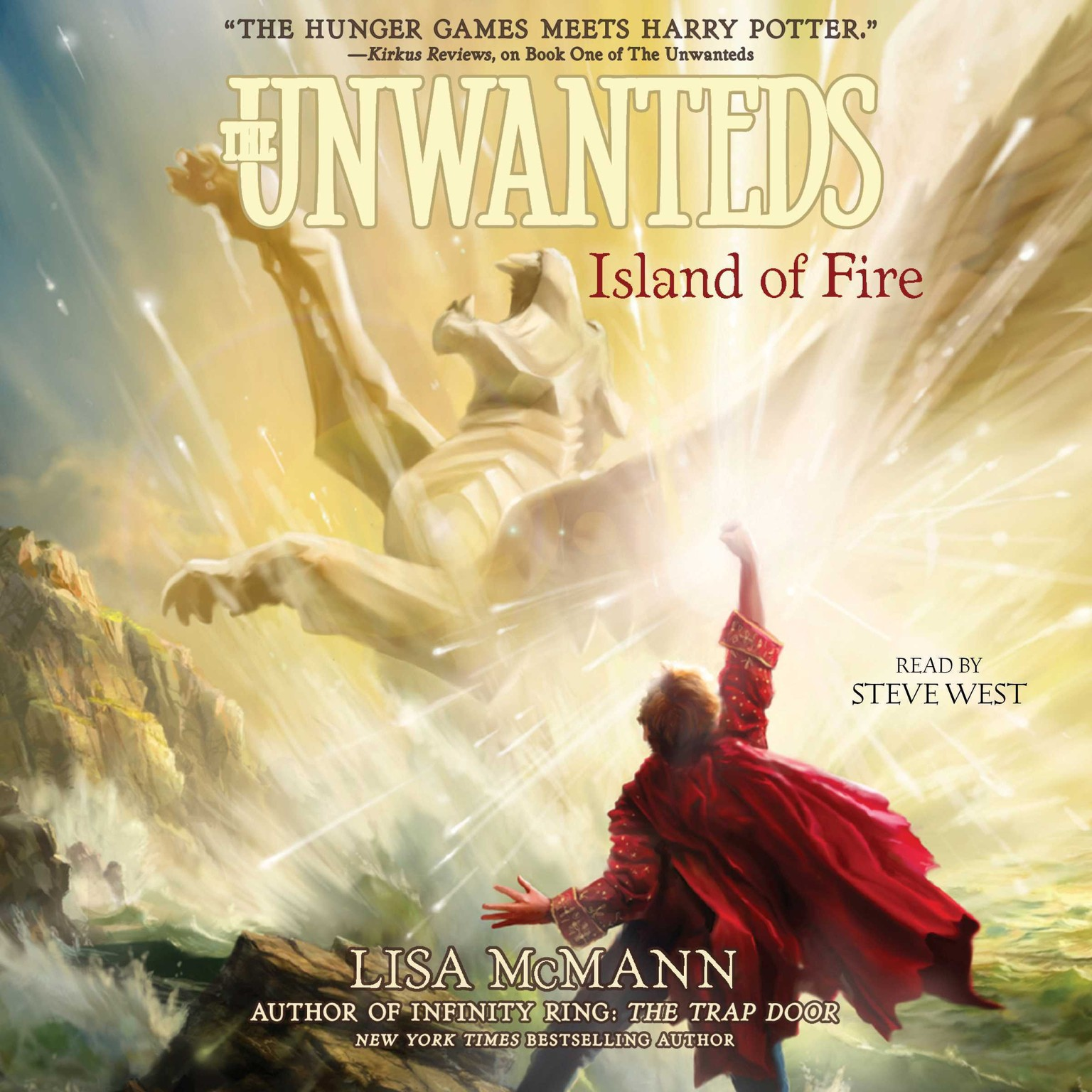 Printable Island of Fire Audiobook Cover Art