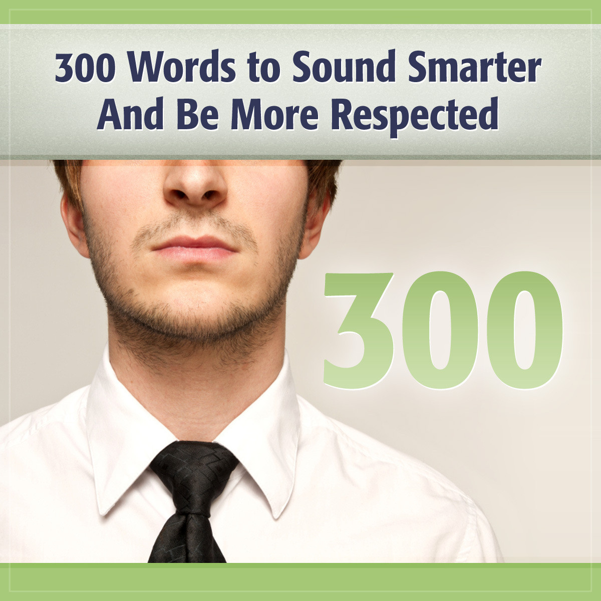 Printable 300 Words to Sound Smarter and Be More Respected Audiobook Cover Art