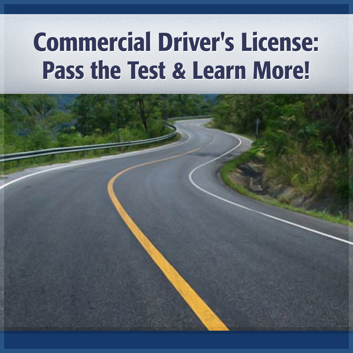 Printable Commercial Driver's License: Pass the Test and Learn More! Audiobook Cover Art