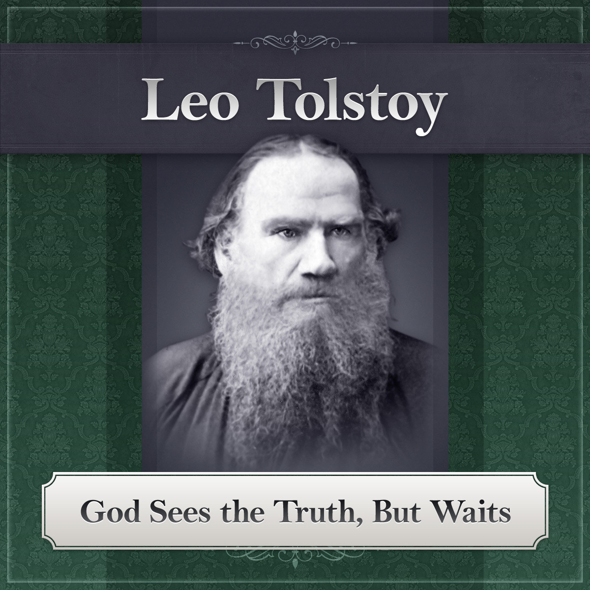 Printable God Sees the Truth, But Waits Audiobook Cover Art