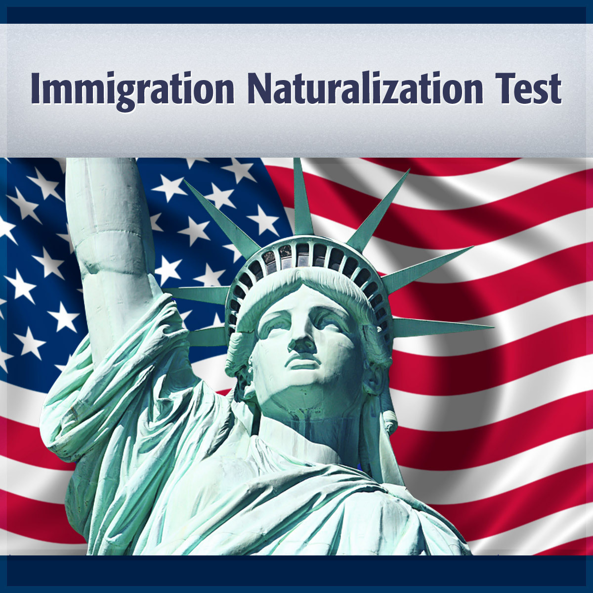 Printable Immigration Naturalization Test Audiobook Cover Art