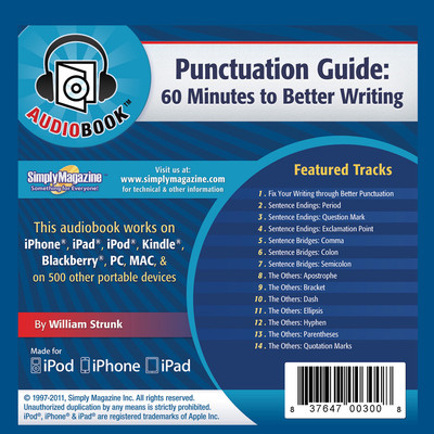 Punctuation Guide: 60 Minutes to Better Writing Audiobook, by Deaver Brown