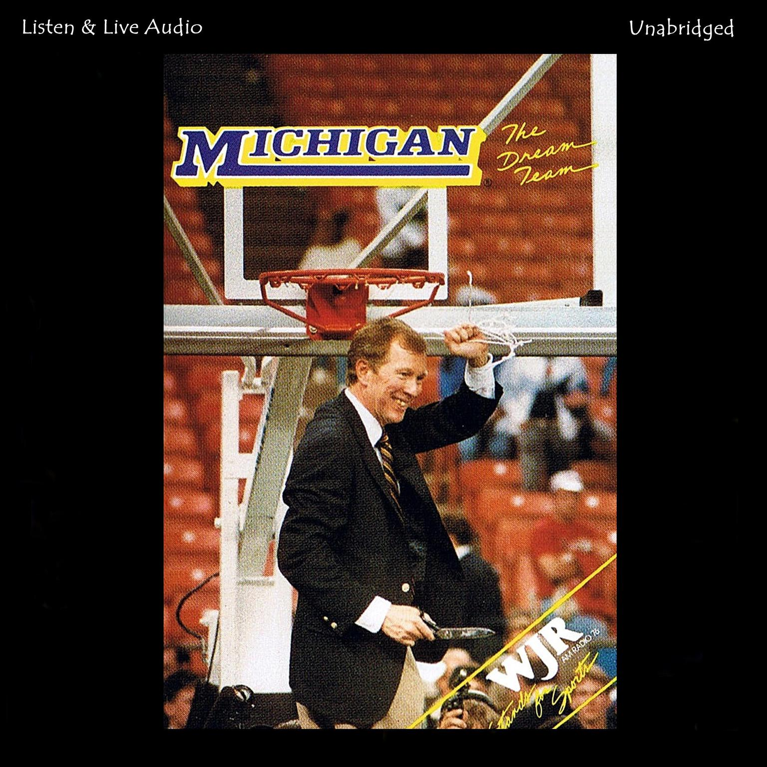 Printable The Dream Team: The 1988–89 University of Michigan NCAA Championship Basketball Season Audiobook Cover Art