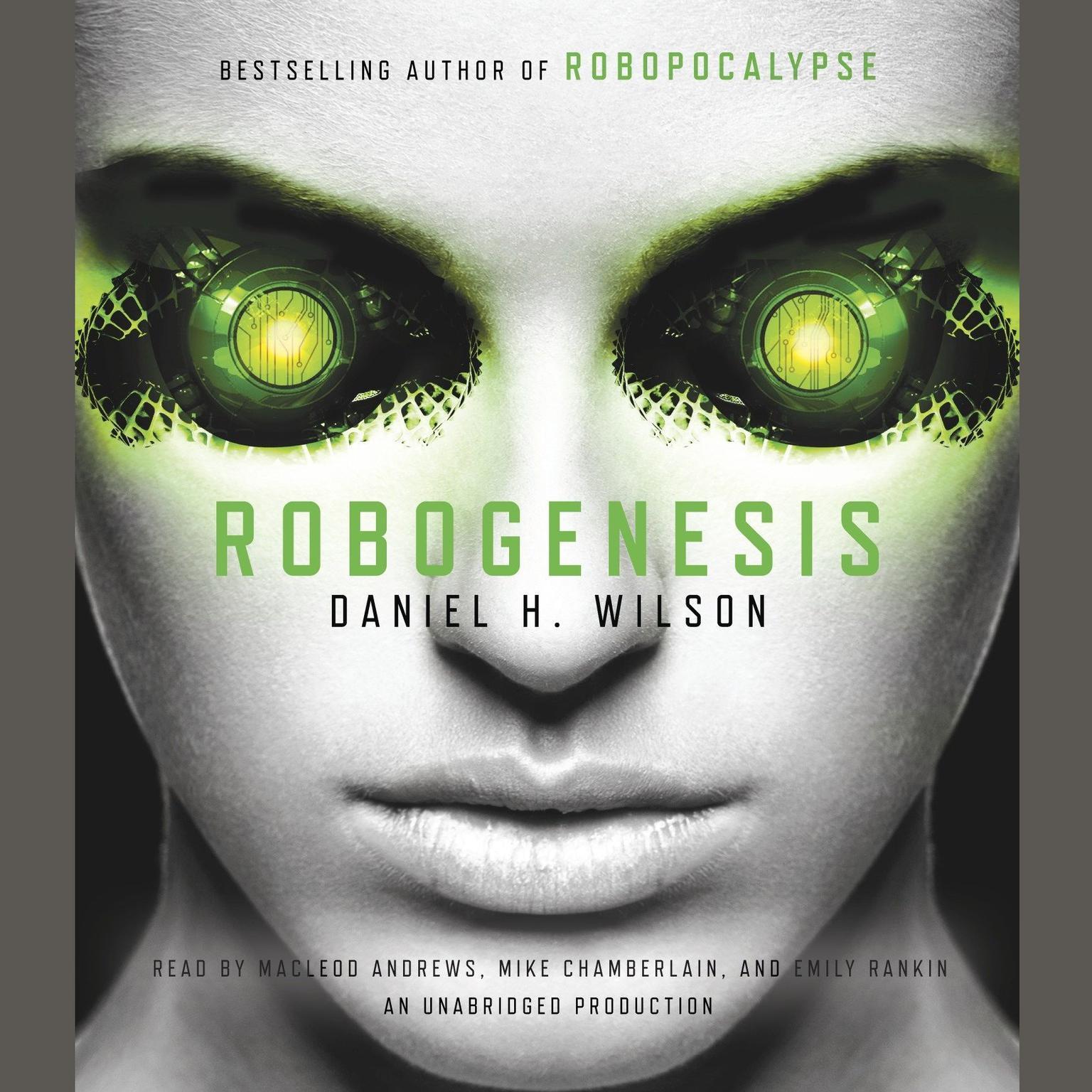 Printable Robogenesis: A Novel Audiobook Cover Art