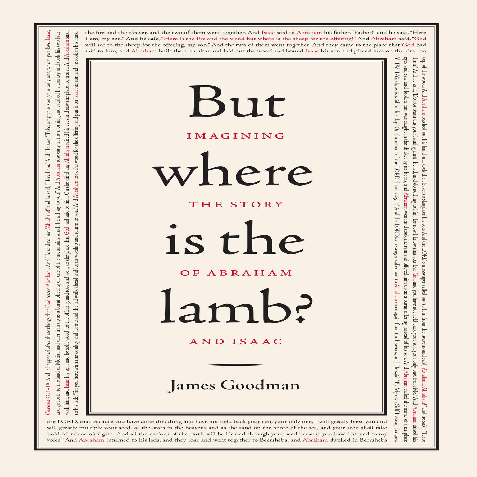 Printable But Where is the Lamb?: Imagining the Story of Abraham and Isaac Audiobook Cover Art