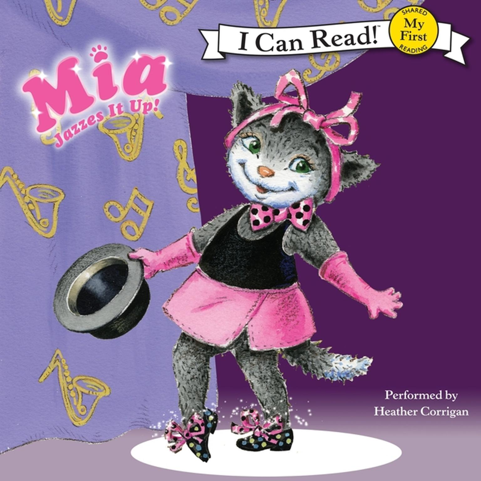 Printable Mia Jazzes It Up! Audiobook Cover Art