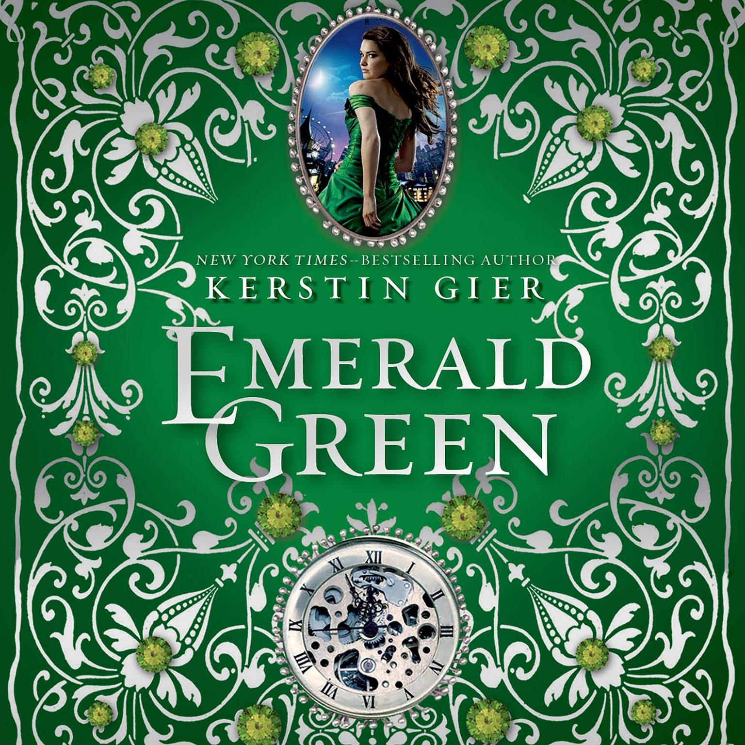 Printable Emerald Green Audiobook Cover Art