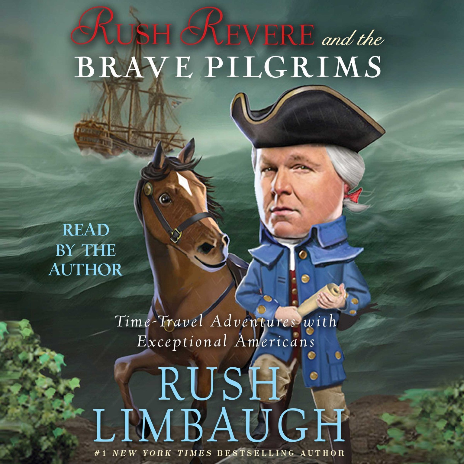 Printable Rush Revere and the Brave Pilgrims: Time-Travel Adventures with Exceptional Americans Audiobook Cover Art