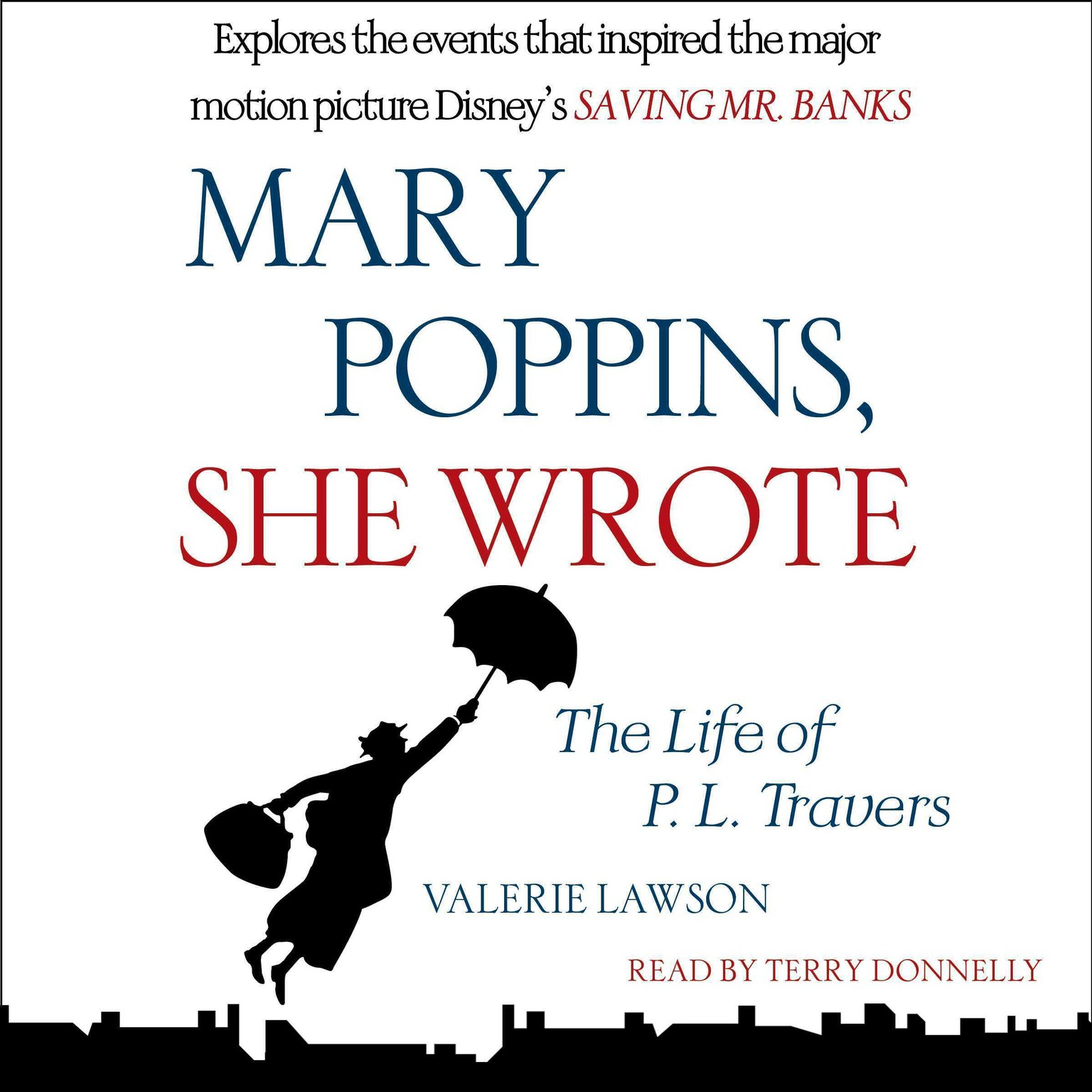 Printable Mary Poppins, She Wrote: The Life of P. L. Travers Audiobook Cover Art