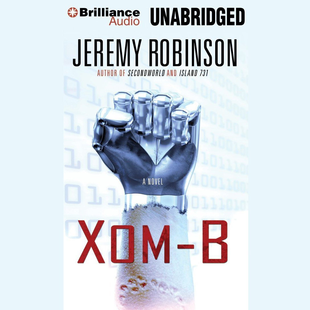 Printable XOM-B: A Novel Audiobook Cover Art