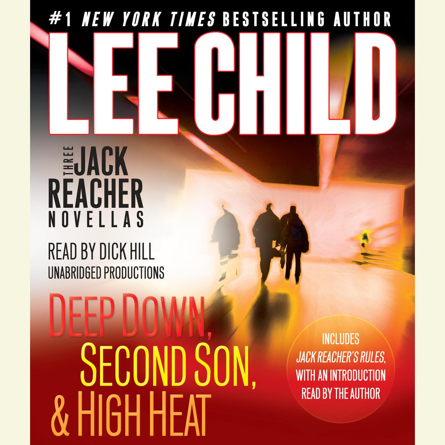 Printable Three Jack Reacher Novellas: Deep Down, Second Son, and High Heat Audiobook Cover Art