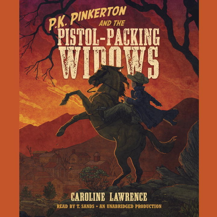 Printable P.K. Pinkerton and the Pistol-Packing Widows Audiobook Cover Art
