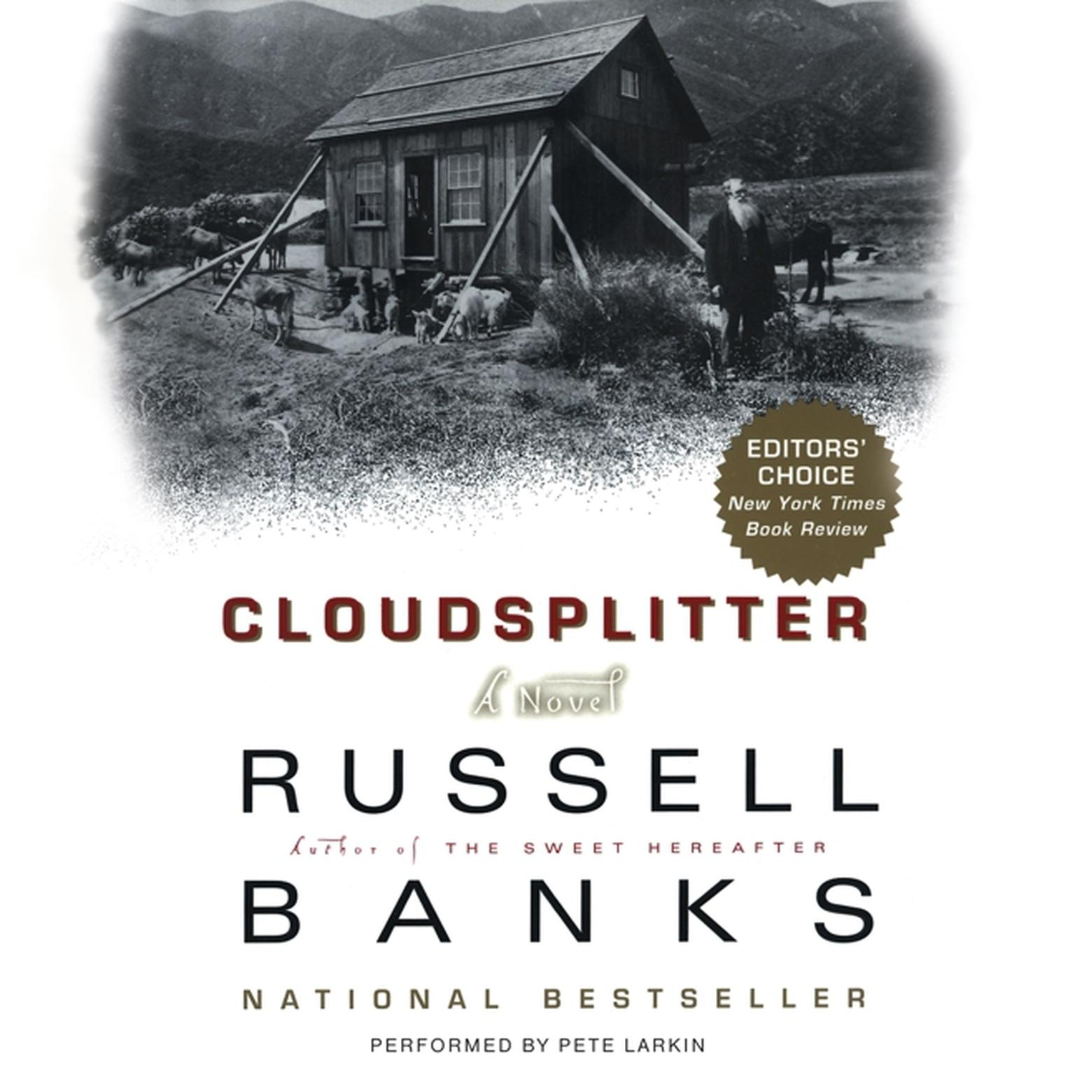 Printable Cloudsplitter: A Novel Audiobook Cover Art